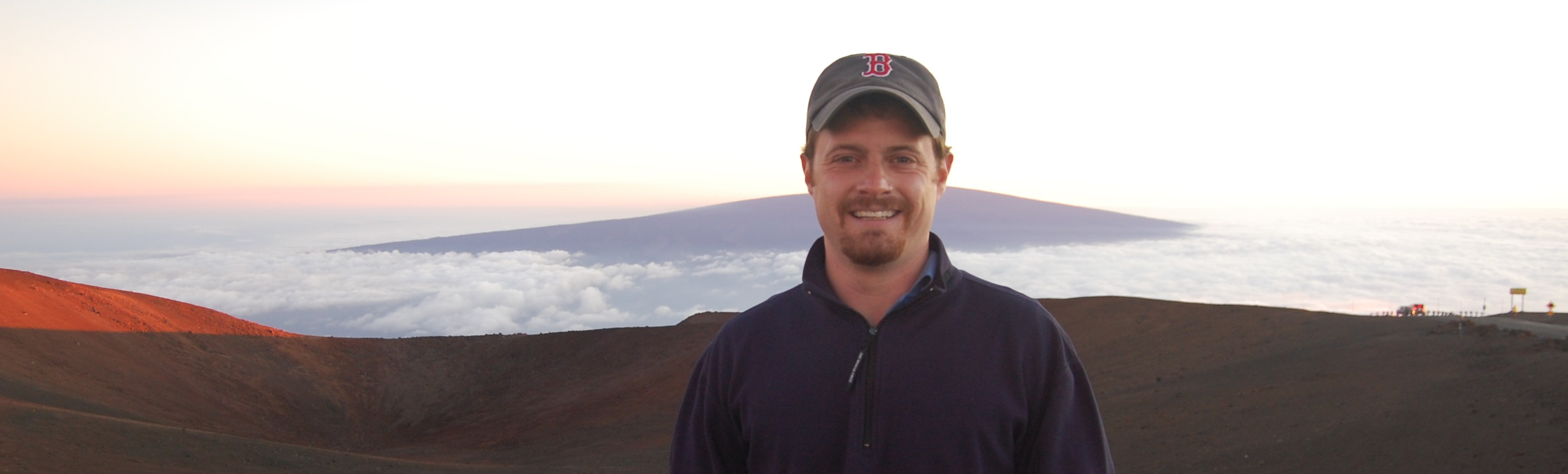 Matthew Boynes on Mauna Kea at sunset